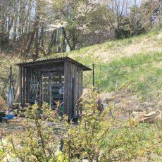 DIY-農器具置き場 廃材パレットで格安に