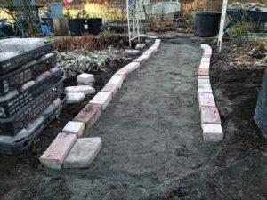 ガーデン園路diy