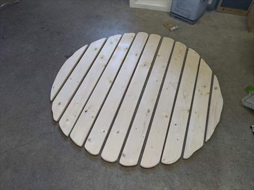 DIY円テーブル